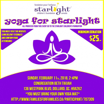 Yoga For Starlight Fundraiser